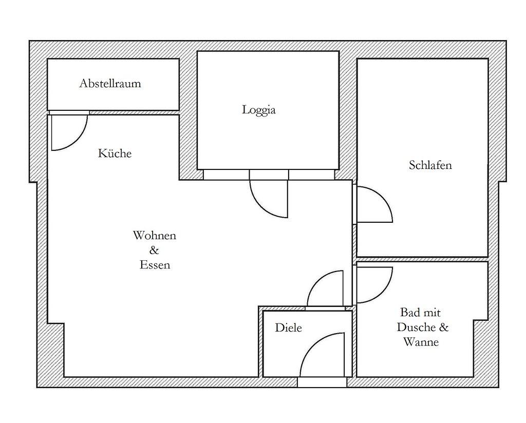 Grundriss wohnung 2 zimmer  Grundriss der 2-Zimmer-Wohnung in Erftstadt/Lechenich   Flickr