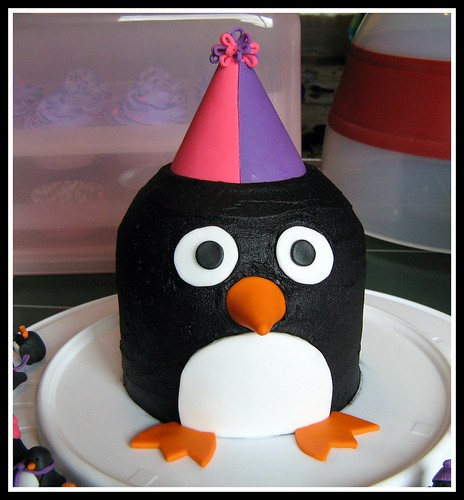 pink and purple penguin cake | by Fowl Single File