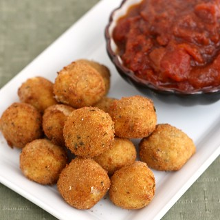 Fried Bocconcini with Spicy Tomato and Garlic Chutney | by Tracey's Culinary Adventures