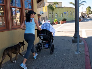 Jogging with Dog and Baby by Capitola Wharf | by donjd2