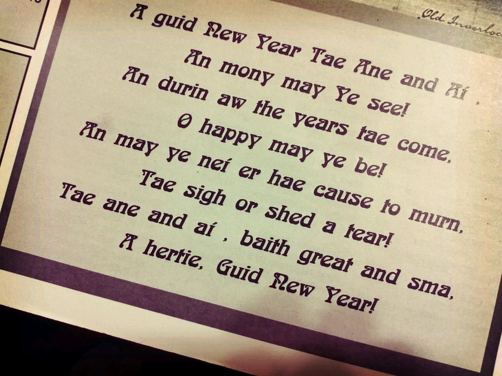 Scottish New Year Wish | SidewaysSarah | Flickr