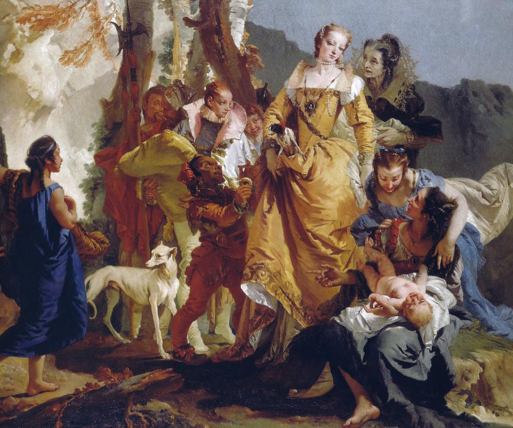 1740 scotland -  Giovanni Battista Tiepolo The Retrieval Of Moses 1740 At National Gallery Of Scotland Edinburgh
