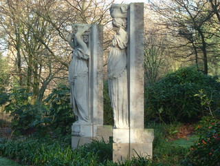 Magnificent Historic Caryatids of Rotherhithe, Southwark Park, London SE16 @ 14 January 2012 | by Kam Hong Leung - Southwark Park