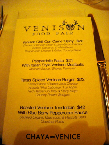 Venison Fair Menu | by HC's Foodventure