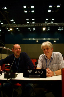 Barry with George, an Irish negotiator | by UK Youth Climate Coalition