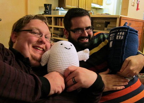 bill, chris and their dr. who stuffies | by lindamade