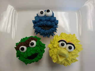 sesame street cupcakes | by Caryn's Cakes
