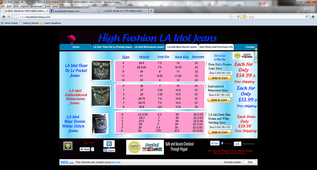 Marydeesboutique com la idol jeans size chart andcheckout flickr