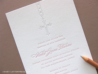 violet's baptism invitation | by duetletterpress