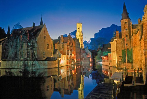 016/365 THE WORLD--Bruges, Belgium  'Twilight on a canal' | by TravelsWithDan
