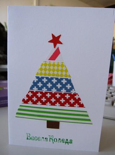 Washi tape christmas card ideen dom flickr - Washi tape ideen ...