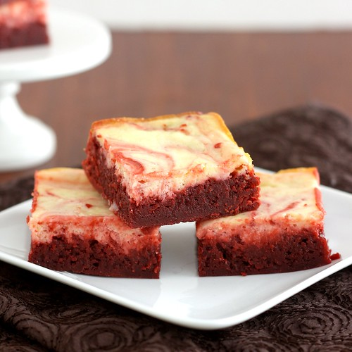 Red Velvet Cheesecake Brownies | by Tracey's Culinary Adventures