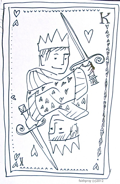 King Of Hearts Valentine Coloring Page