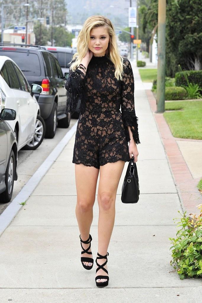 Olivia Holt Stunning Photoshoot In Black Dress At Hollyw Flickr