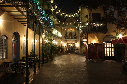 New Orleans Square At Night Disneyland In California Flickr
