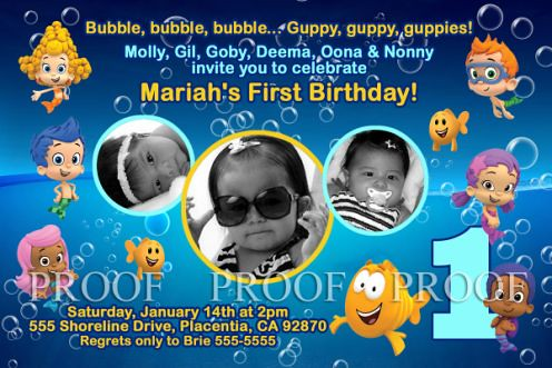 Bubble Guppies Unisex Birthday Party Invitations Outrageou Flickr
