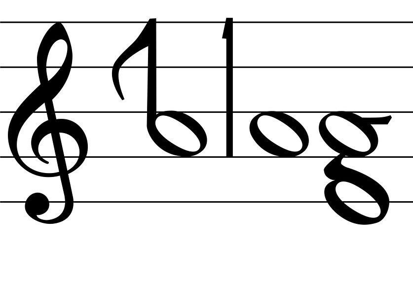 Music Note Symbol Blog Word Design The Word Blog As Notes Flickr
