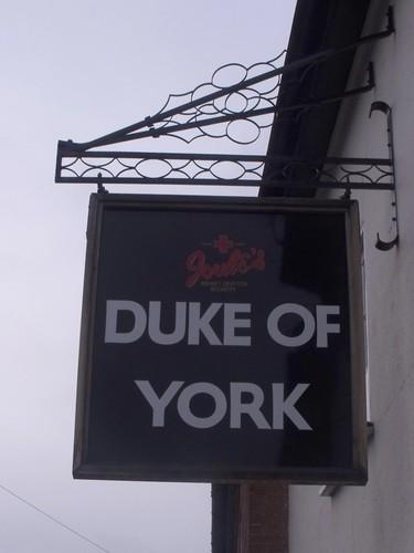 Duke Of York 23 And 25 Greenhill Lichfield Pub Sign