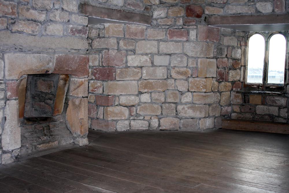 skipton castle upper interior chamber fireplace by corset_kitten