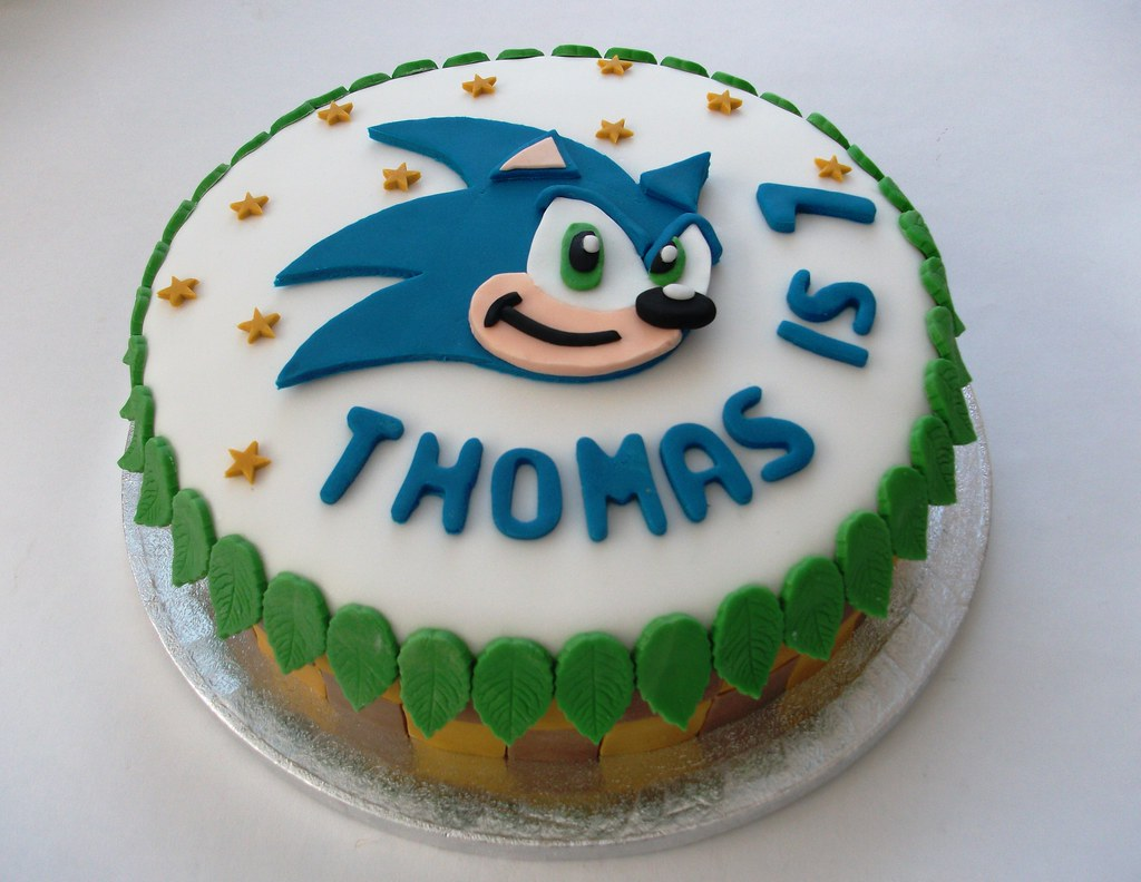 Sonic The Hedgehog Cake A Chocolate Birthday Cake Inspired Flickr