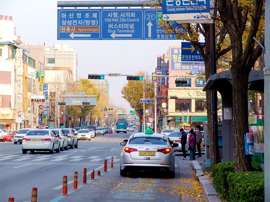 韓國-牙山市-溫陽洞街道(City st...