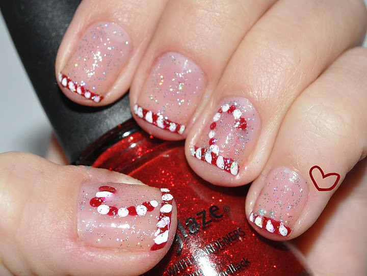 Candy Cane Nail Art Nfu Oh Flickr