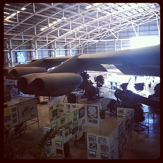 B-52 is in the middle of the museum. And over the exhibits. And EVERYWHERE. Rather large for an old machine. | by tahinikill