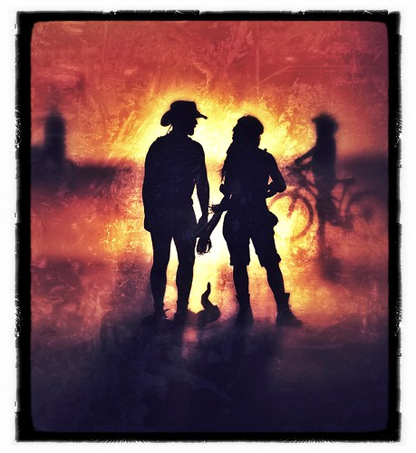Couple at Sunset, Burning Man 2011 | by Michael Holden