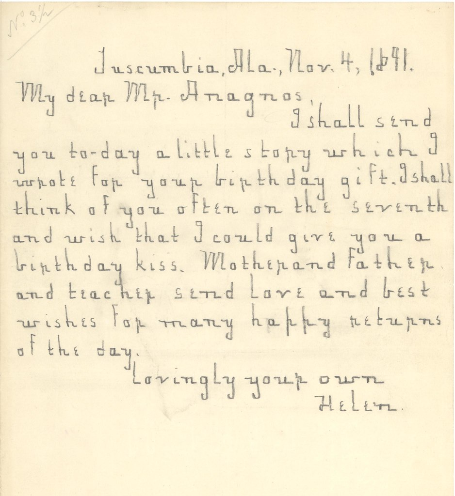 letter from helen keller to michael anagnos nov flickr letter from helen keller to michael anagnos nov 4 1891 by perkins