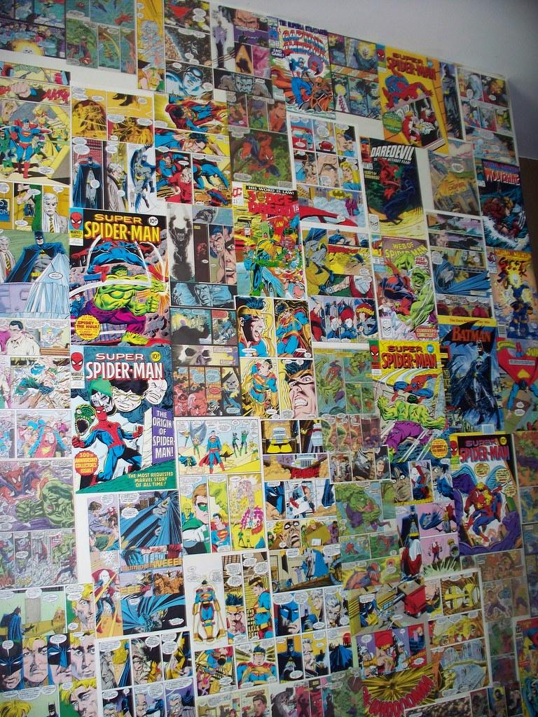 Comic wallpaper | My son wanted a superhero bedroom, so spen… | Flickr