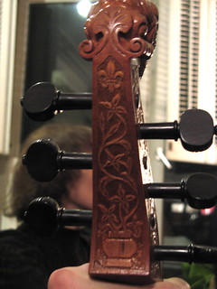 Carving on Viola da Gamba | by susanvg