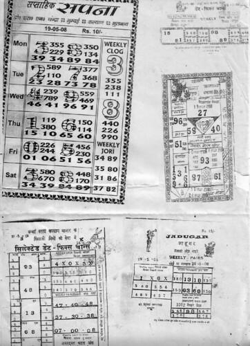 matka gambling sheets