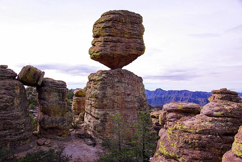 big balanced rock formation chiricahua national monument flickr