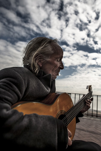 With the guitar man of Alfama. | by * Ahmad Kavousian *