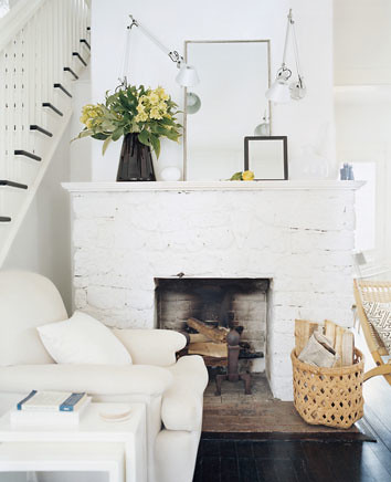 Source Unknown White Rustic Eclectic Vintage Modern Livin
