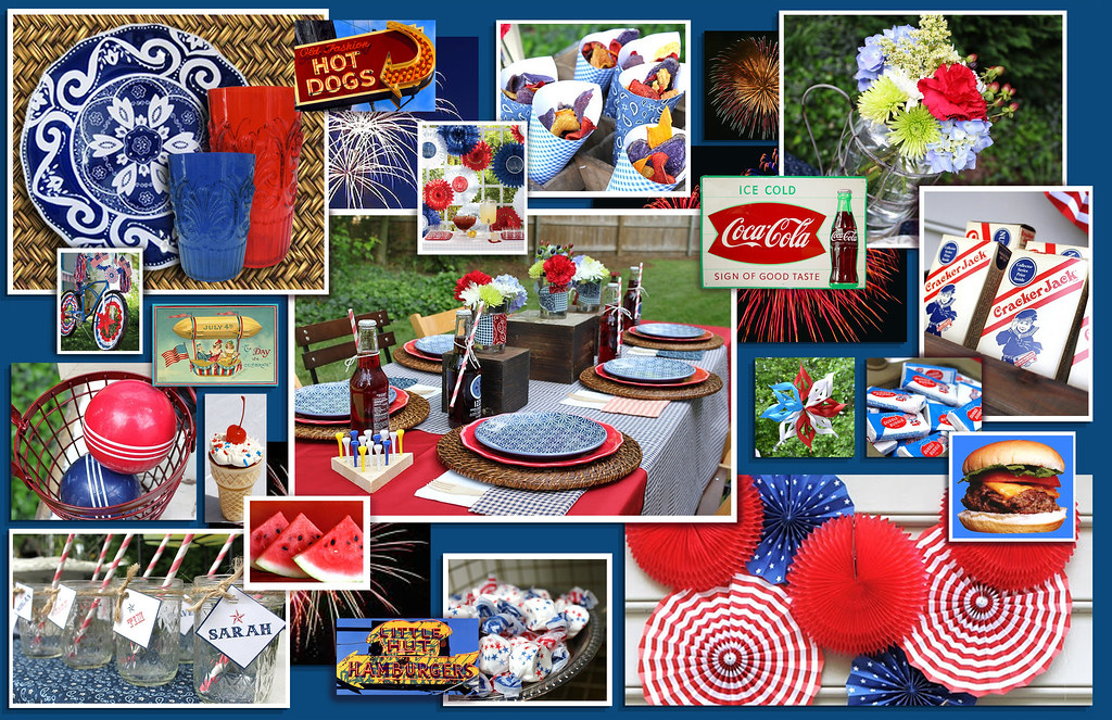 ... 4th of July mood board - table setting | by Swell Dame & 4th of July mood board - table setting | Ideas and images pu\u2026 | Flickr