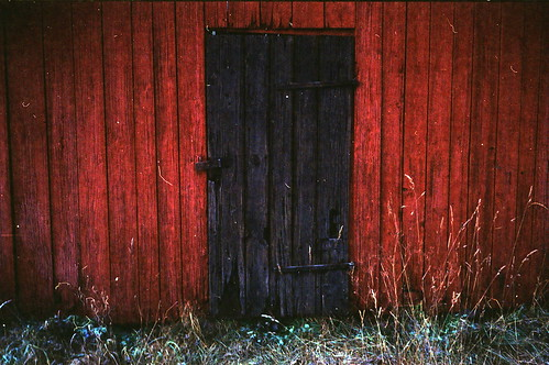 black door, frosty grass and red wall II | by 222west23rd