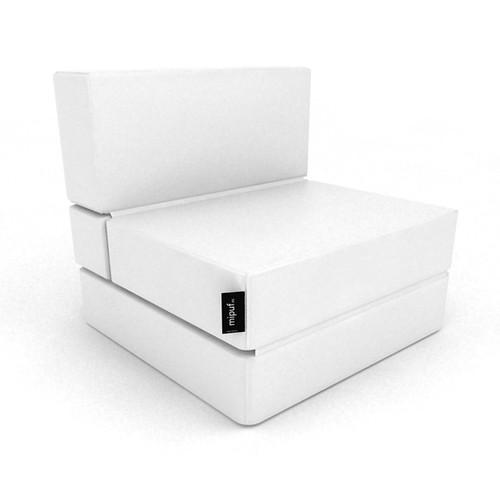 Puff cama convertible blanco al concepto de decoraci n - Puff cama convertible ...