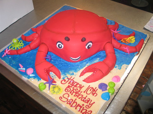 Crab Birthday Cake Pan