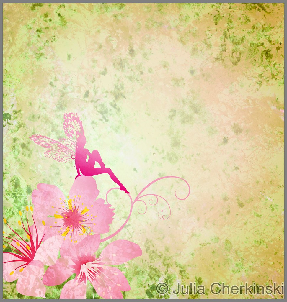 Pink Little Flower Fairy On The Green Spring Or Summer Gru Flickr