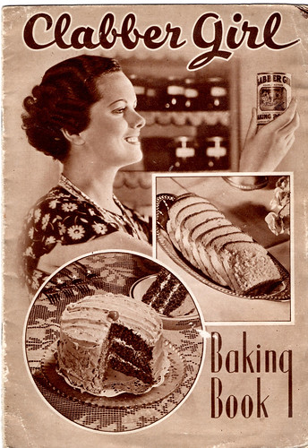 Book Cover White Girl : Clabber girl cook book front cover of s