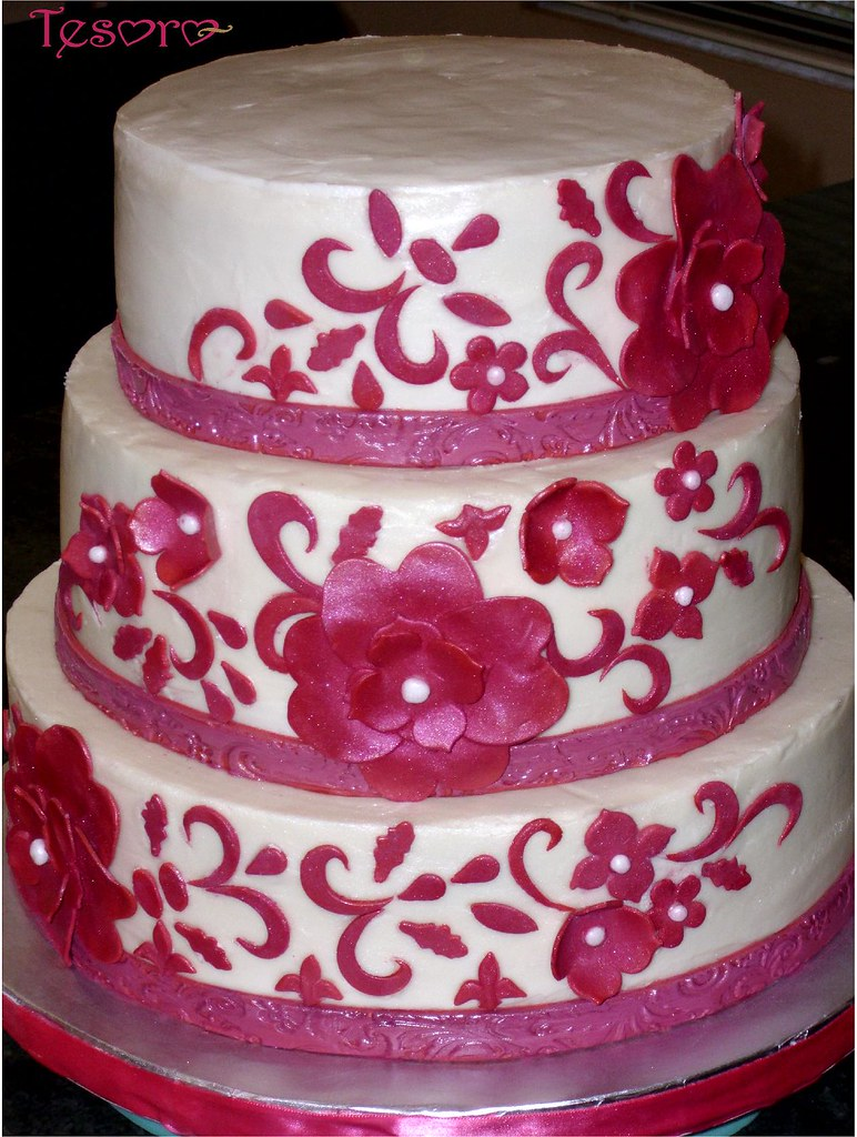 Hot Pink Wedding Cakes - Wedding Cake Flavors