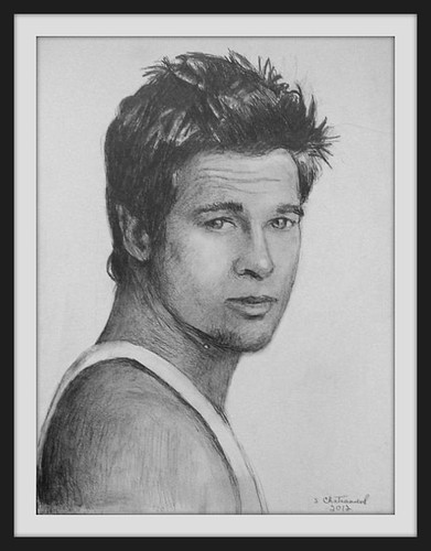 Brad Pitt - Pencil Drawing by snc145 - (2012) - Photo Of Drawing Also by snc145 | by snc145