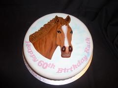 Horse 60th Birthday Cake
