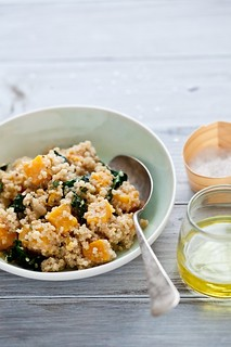 Quinoa, Kale and Butternut Squash Salad | by tartelette