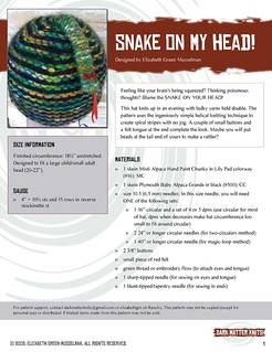 Snake on My Head pattern, page 1 | by elizgm