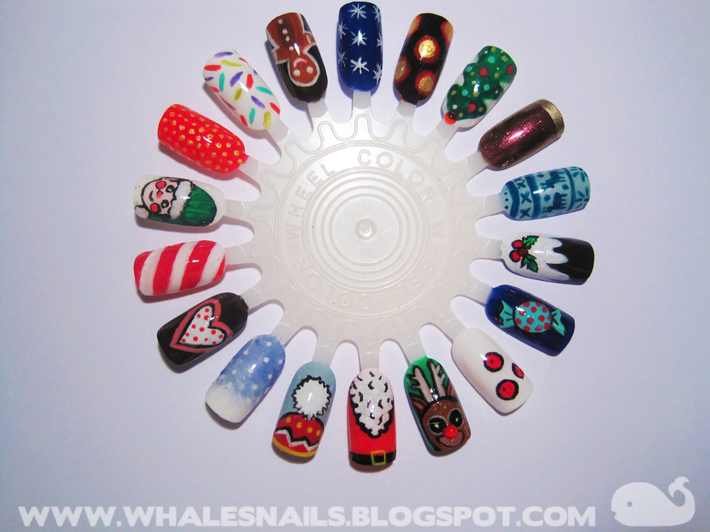 Christmas nail art wheel 1 | Whale\'sNails | Flickr