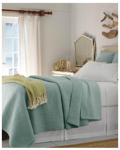 ... Garnet Hill Dream Quilt Mineral Green | By SunaStudio
