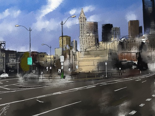 Seattle form the 510 Bus Stop | by Jose F. Sosa