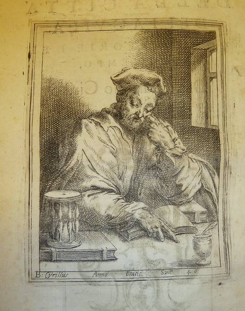 Engraved portrait of the author Bernardino Cirillo at the age of 40